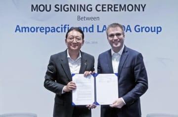 韓国のアモーレパシフィックはラザダと提携し、東南アジアでの拡販を図る(アモーレパシフィック提供)