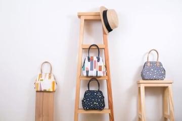 「誠品生活expo」で紹介する、バッグを中心とした台北・迪化街発のブランド「布物設計」(誠品生活提供)
