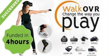 安価なウェアラブルVR歩行デバイス「WalkOVR」Kickstarter開始―スタートから4時間余りで目標達成