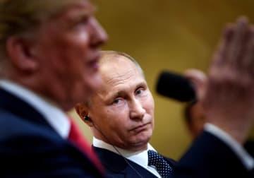 トランプ大統領とプーチン大統領(写真:AFP/アフロ)