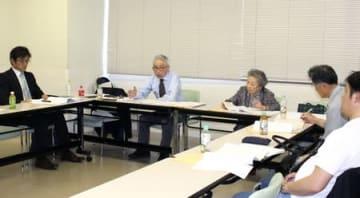 2020年度末にも活動停止する方針を決めた県原爆被害者の会の拡大役員会=17日、新潟市中央区