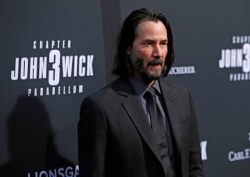 5月15日、ロサンゼルスで新作映画『ジョン・ウィック:パラベラム』の上映会が開催され、主演のキアヌ・リーヴスらが姿を見せた - (2019年 ロイター/Mario Anzuoni)
