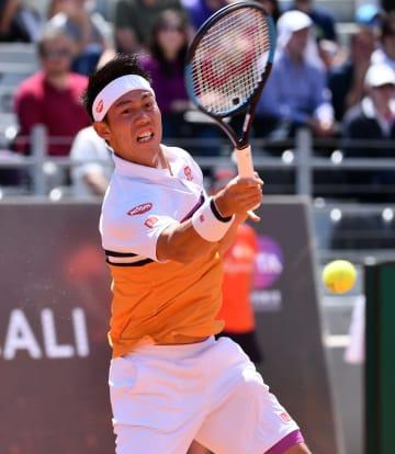 錦織圭、準々決勝で敗退 イタリア国際テニス