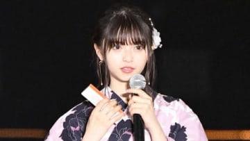 ファッション&音楽イベント「Rakuten GirlsAward 2019 SPRING/SUMMER」に登場した「乃木坂46」の齋藤飛鳥さん