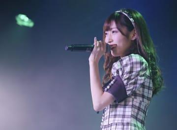 卒業公演に出演したNGT48の山口真帆さん=18日、新潟市(AKS提供)