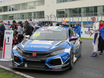 TCRジャパンのサタデー・シリーズ第1戦を制したのは、シビックに乗るM.ホーソン。