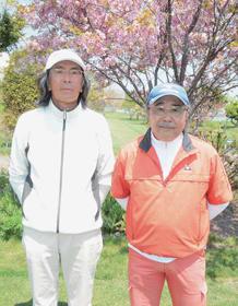 優勝した水上さん(左)と齋藤さんペア