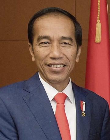 インドネシアのジョコ大統領(ゲッティ=共同)