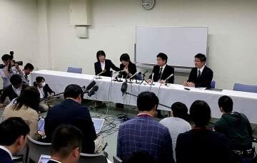 保育園側が事故の状況などを説明した記者会見(8日午後6時17分、大津市)