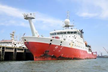 中国遠洋科学調査船「科学号」出航 マリアナ海溝の海山を探査へ