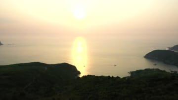 海からの日の出を満喫 福建省嵛山島