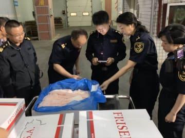 泉州口岸に初の輸入肉製品が到着 福建省