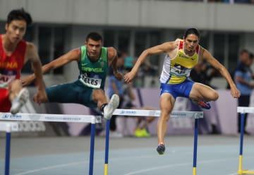 陸上400メートル障害で安部孝駿が優勝 ワールドチャレンジ南京大会