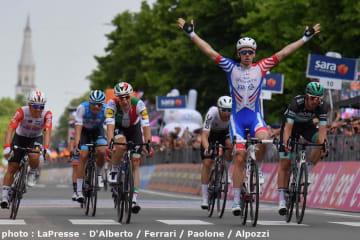 初山が2度目の逃げ! ジロ・デ・イタリア第10ステージはデマールが区間優勝