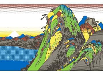 6カ所を巡ると浮世絵風の「箱根湖水図」が出来上がるスタンプラリー