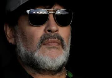 サッカーの元アルゼンチン代表、ディエゴ・マラドーナ氏は20日、6月に公開される自身のドキュメンタリー映画について不満を表明し、鑑賞しないよう呼び掛けた。5日、メキシコで撮影 - (2019年 ロイター/Henry Romero)