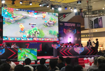 A gaming event at a shopping mall in Yangon in 2018