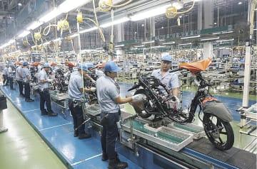 フィリピンにある二輪車工場