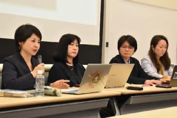 院内集会で議論した山本さん(左)、島岡教授、寺町弁護士、大竹さん(2019年5月23日、弁護士ドットコム撮影、東京都)