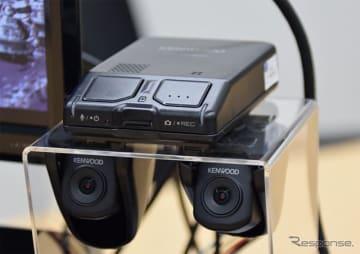 ケンウッド、彩速ナビ連携型2カメラドラレコ発売へ フルHDで前後同時録画 画像