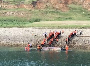 貴州省貞豊県で船転覆 6人死亡、12人行方不明