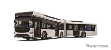 いすゞと日野が共同開発した国産初のハイブリッド連節バス