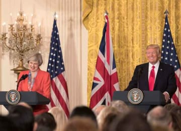 President Donald Trump and PM Theresa May at Joint Press Conference
