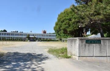 2014年3月に閉校した旧田中小。那須町校歌フェスティバルでは、同校など17小中学校の校歌が歌われる=24日午後3時5分、那須町寺子乙