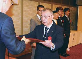 会員事業所の優良な危険物取扱者として認められた被表彰者