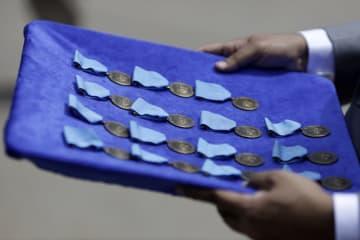 国連、中国軍人に和平勲章を授与