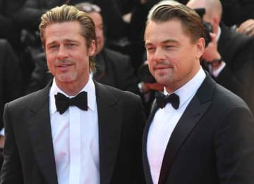 Brad Pitt & Leonardo DiCaprio Hug On Red Carpet At 2019 Cannes Film Festival