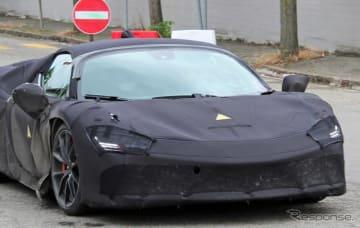 フェラーリ 新型ハイブリッドのプロトタイプ(スクープ写真)