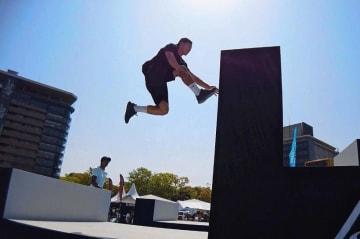 優勝した世界大会で競技する川端普斗さん=4月、広島市(提供)
