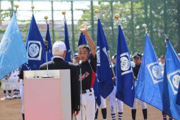 「第43回全日本選手権大会 ポニーブロンコの部」の開会式と試合が行われた【写真:広尾晃】