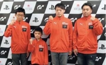 大分県代表になった(左から)石田蒼良さん、森逞真君、武内慎也さん、黒田洋和さん=福岡市内