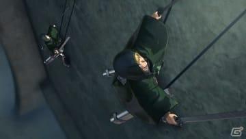 アルミンの指示で壁を捜索する調査兵。