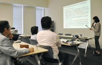 安定ヨウ素剤の事前配布などに関し市民団体などが開いた集会=28日午後、東京都千代田区
