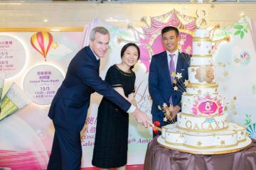 ギャラクシーマカオ開業8周年記念日に開催された従業員向けイベントの様子(写真:Galaxy Entertainment Group)