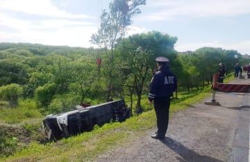 ロシア沿海地方で中国人観光客を乗せたバス横転 2人死亡