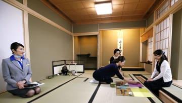 全日空の総合トレーニングセンターに設けられた茶室=29日、東京都大田区