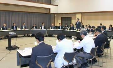 「都市間高速交通ネットワーク」の在り方を考える検討会の初会合=29日、新潟市中央区