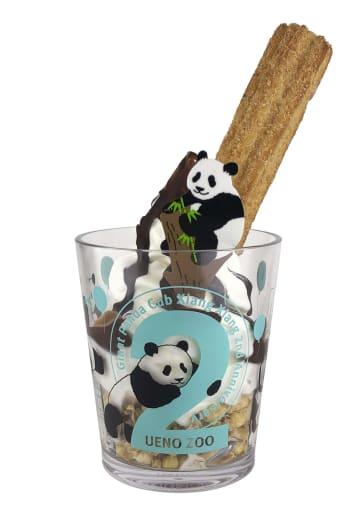 上野動物園のシャンシャンが2歳になるのを記念して販売されるオリジナルカップ入りのソフトクリーム(東京動物園協会提供)