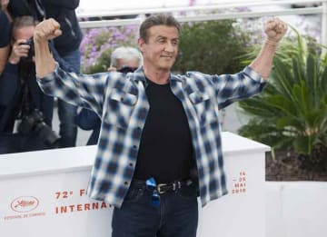 Sylvester Stallone Promotes Latest 'Rambo' Film At Cannes Film Festival