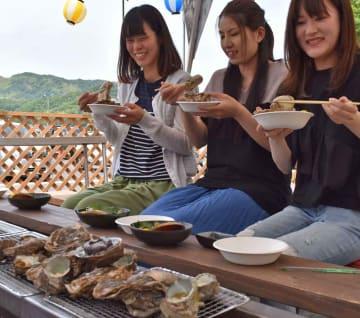 地元産の海の幸が味わえる海鮮バーベキュー(舞鶴市下安久・舞鶴かき小屋 美味星)