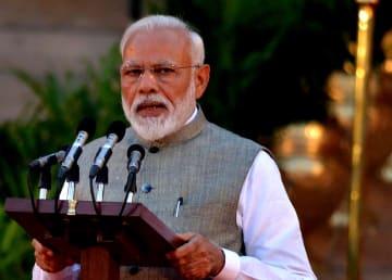 インドのモディ首相、2期目の就任を宣誓