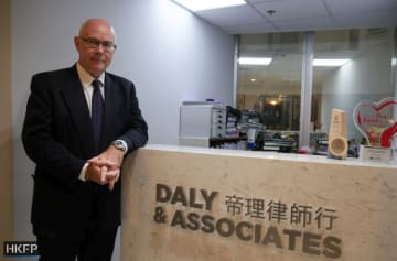 Human rights lawyer Mark Daly. Photo: Holmes Chan/HKFP.
