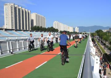 北京初の自転車専用道が開通 全長6·5キロ