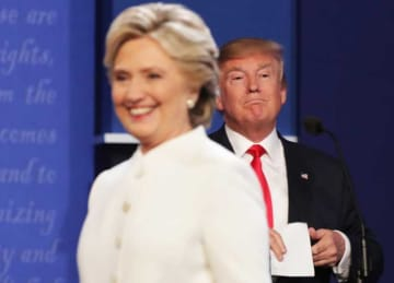 Hillary Clinton & Donald Trump Refuse To Shake Hands At Third Presidential Debate