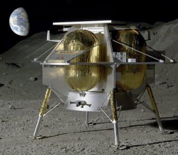 NASAが委託先に選んだアストロボティックの月着陸機の想像図(同社提供・共同)