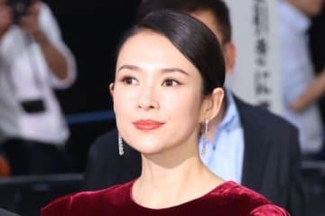 映画「ゴジラ キング・オブ・モンスターズ」のカーペットイベントに登場したチャン・ツィイーさん